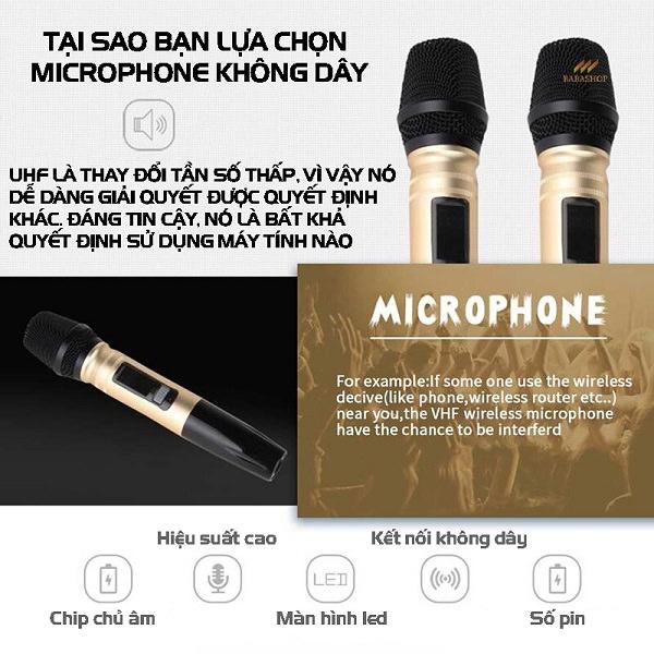 Micro Không Dây Pin Sạc Rely UX2