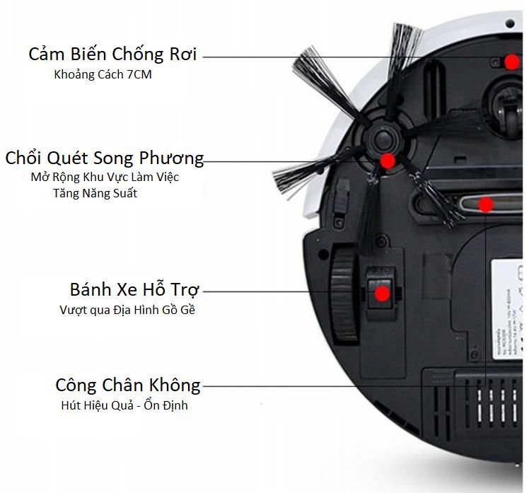 Robot Hút Bụi Thông Minh Jia Weishi S350