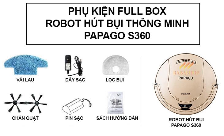 Robot Máy Hút Bụi Thông Minh Papago S360