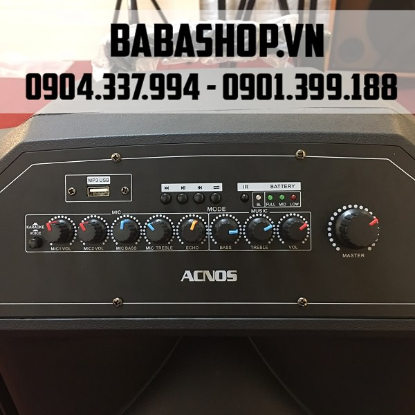 Loa Kéo Di Động Acnos Beatbox KB39z - Đầu Karaoke 5 Số
