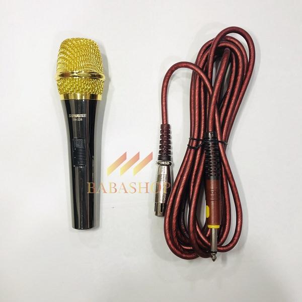 micro dây karaoke sunrise sm-228