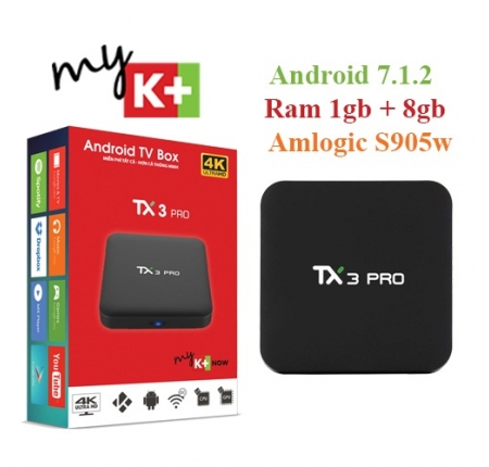 Smart Android TV Box Tanix Tx3 Pro – Ram 1GB, Rom 8GB, Android 7.1.2, Amlogic S905w