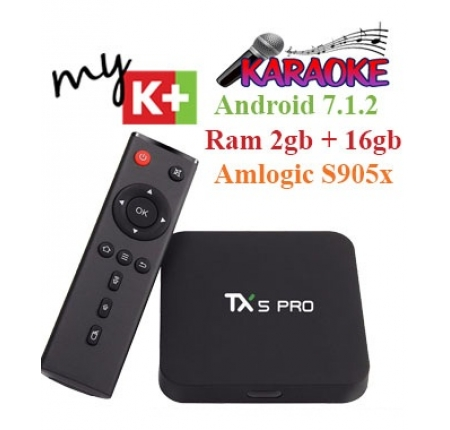 Smart Android TV Box Tanix Tx5 Pro – Ram 2GB, Rom 16GB, Android 7.1.2, Amlogic S905x.